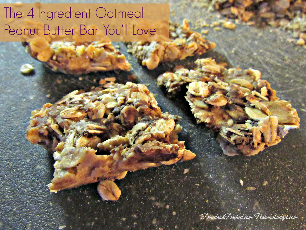 The 4 Ingredient Oatmeal Peanut Butter Bar You'll Love