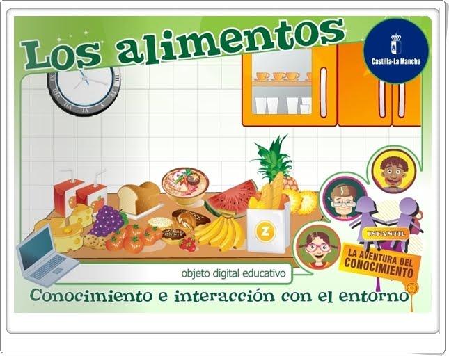 """""""Los alimentos"""" (Aplicación interactiva de Educación Infantil)"""