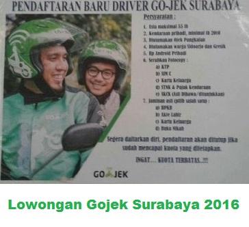 lowongan gojek surabaya 2016, lowongan gojek surabaya terbaru, lowongan gojek september 2016