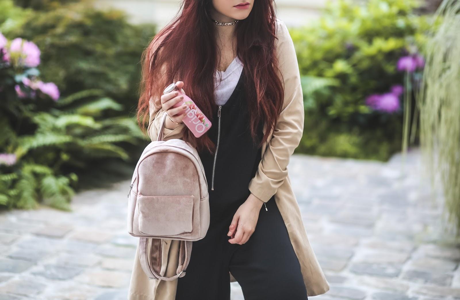 sac à dos velours blog mode paris