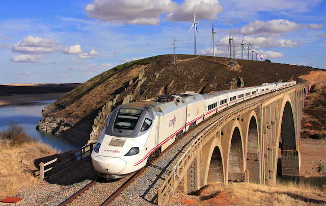 Spain has the longest high-speed rail system in Europe and the second longest in the world.
