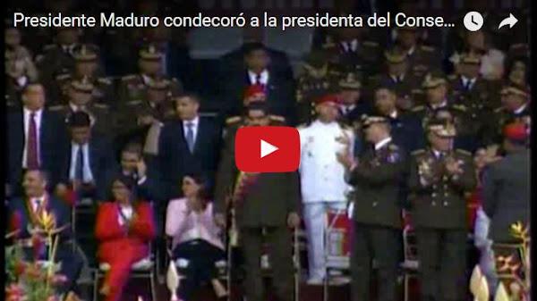 Maduro condecoró a todos los malos en una cadena falsa de TV grabada