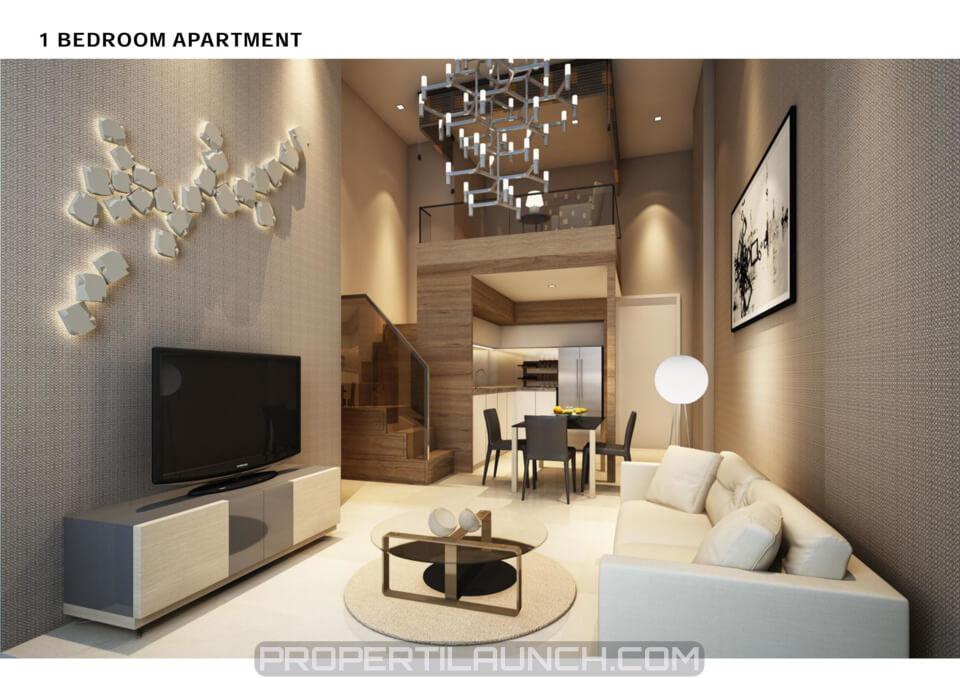 1 BR Type Cambio Lofts Apartemen Alam Sutera