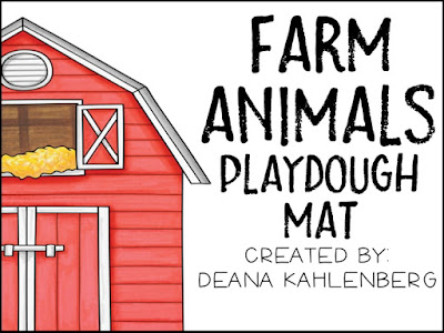 Primary Punch Farm Animals Play Dough Mat