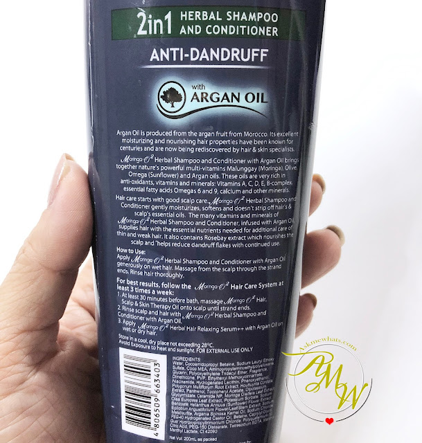 a photo of Moringa-O 2in1 Herbal Shampoo and Conditioner anti-dandruff with argan oil Review