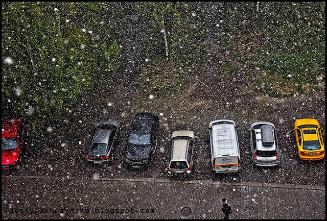 Atak zimy wiosna zdjęcia