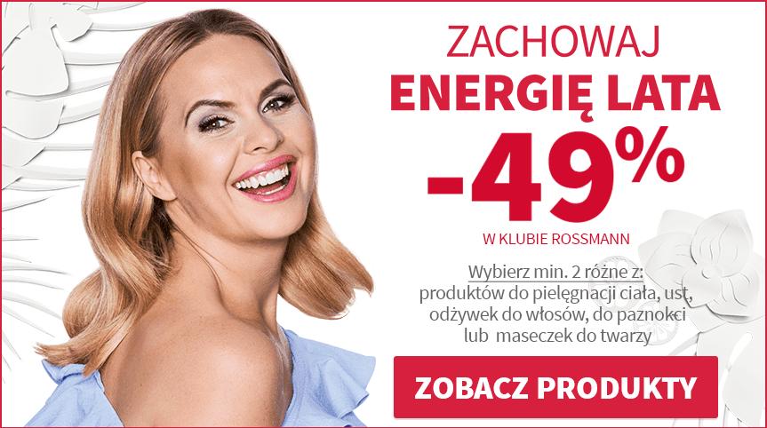 Rossmann promocja -49% Zachowaj Energię Lata sierpień 2017 | Moje zakupy