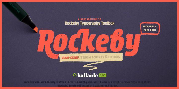 rockeby font tipografi gratis
