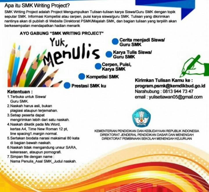 Lomba Menulis Untuk Siswa Dan Guru Smk Forum Guru Indonesia