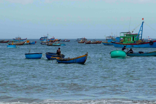 Village de pêcheurs à Mui Ne au Vietnam