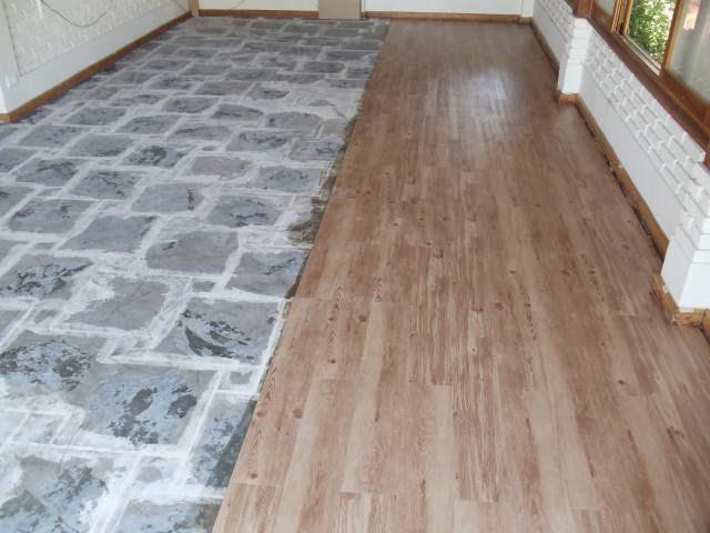 Reforma f cil e r pida piso auto colante que imita - Colocar piso vinilico ...