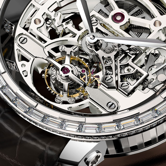 Dewitt onlywatch Twenty-8-Eight High Jewellery Skeleton Tourbillon detail