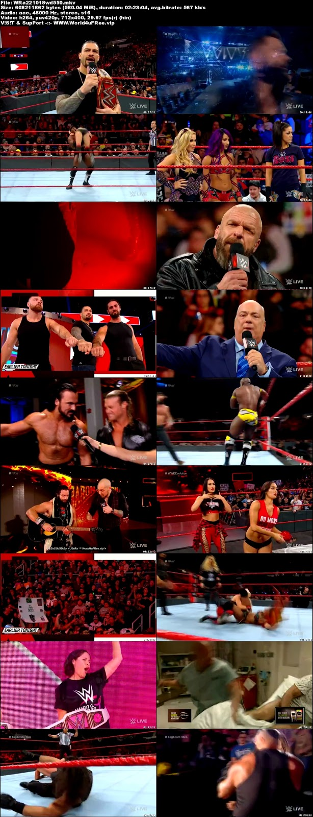 WWE Monday Night RAW 22 OCTOBER 2018 HDTV 480p 550MB x264 world4ufree.fun tv show wwe monday night raw wwe show monday night raw compressed small size free download or watch onlne at world4ufree.fun