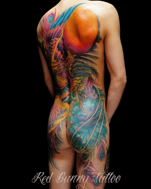 tattoo phoenix 鳳凰 タトゥーあかつき