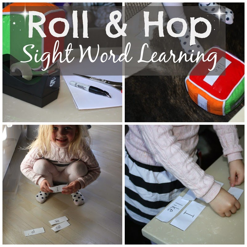 http://www.smallpeoplebigideas.com/play/roll-hop-sight-word-learning