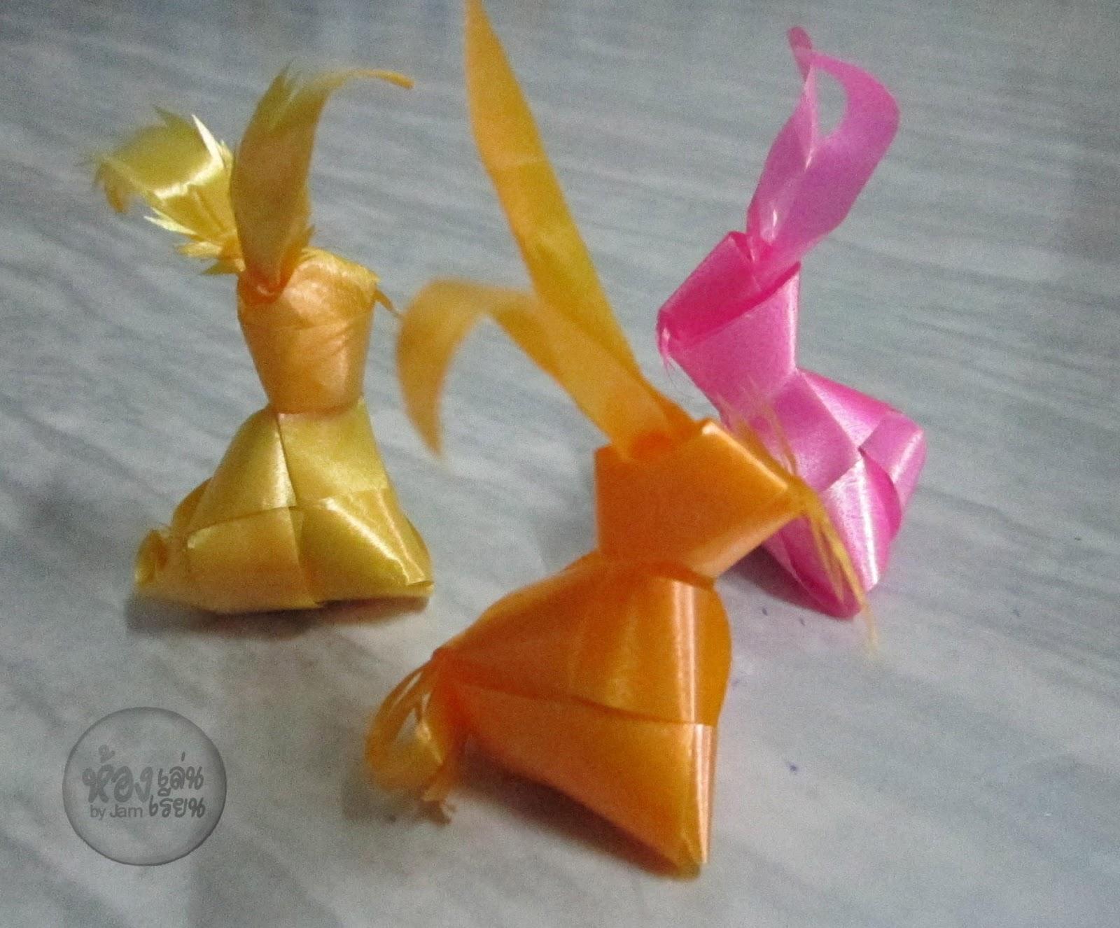 ウサギ3Dをリボンにする方法、リボンを製織する方法  weave ribbon rabbit Como coelho fita 3D, tecendo fita,