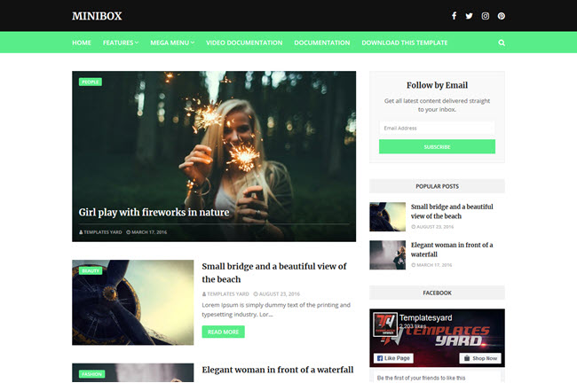 MiniBox – Responsive Blogger Template