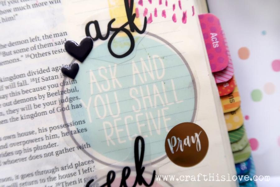 bible journaling luke 11 _ask seek knock