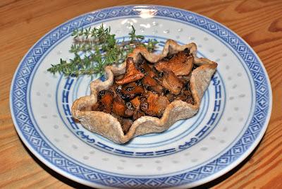 Karelsk pirog med svamp