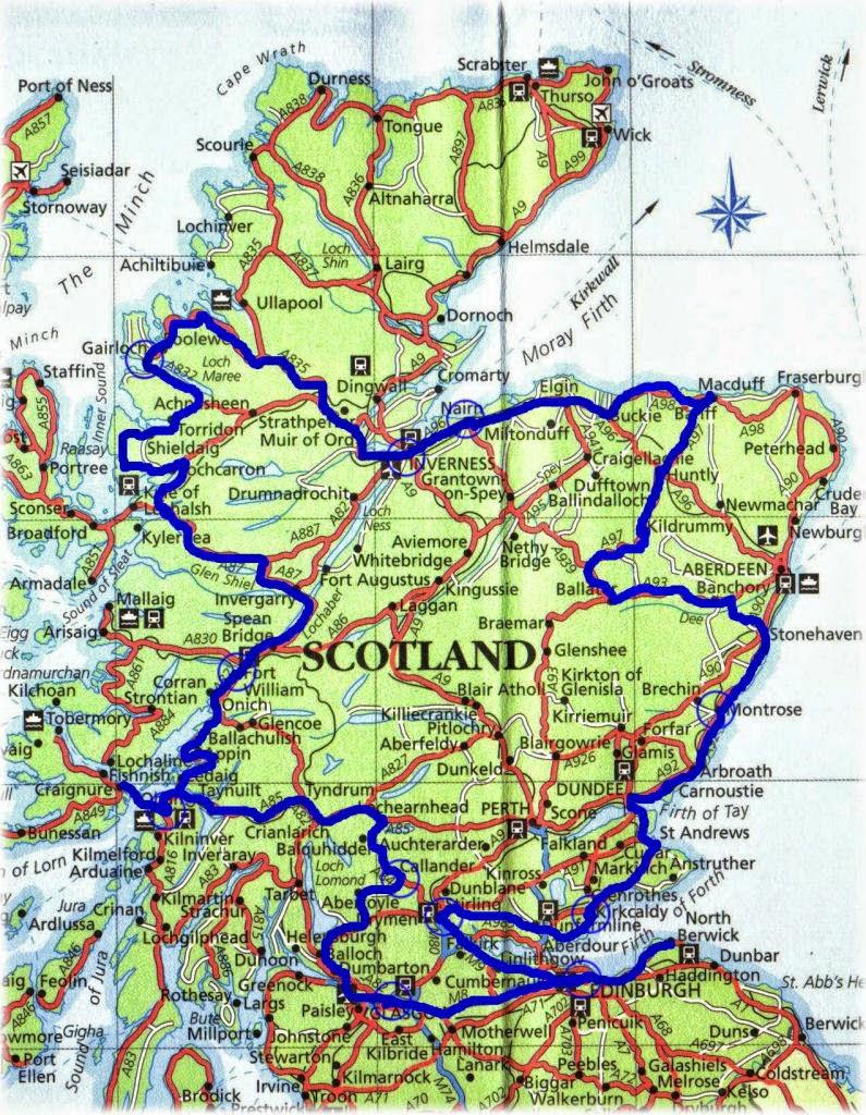 Cartina Stradale Della Scozia.Viaggi Per Il Mondo Di Marco Pistolozzi Con Video Foto E Notizie Viaggio In Scozia E Antichi Castelli Di Pistolozzi Marco