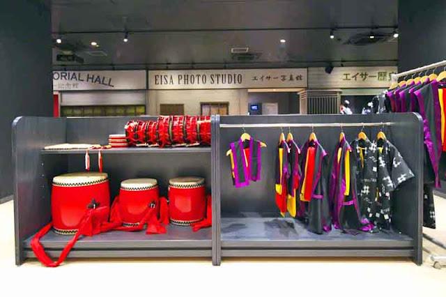 drums, Eisa, costumes, museum, Okinawa