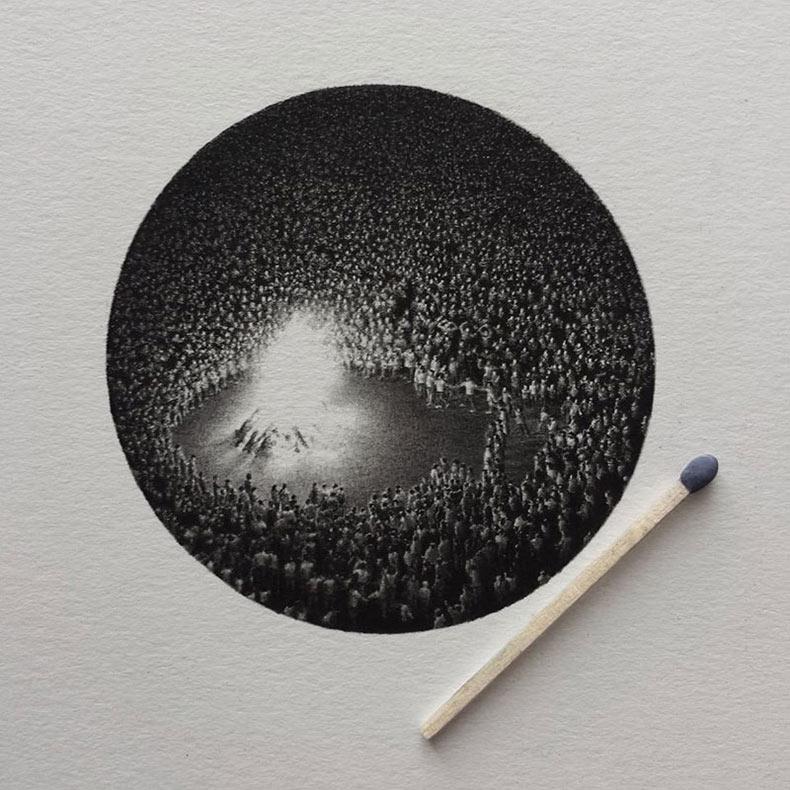 Dibujos a lápiz en miniatura sorprendentemente detalladas de Mateo Pizarro
