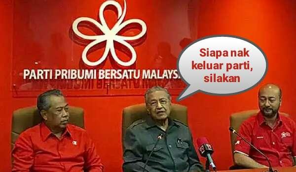 Mahathir Bengang: Siapa Nak Keluar Parti, Silakan