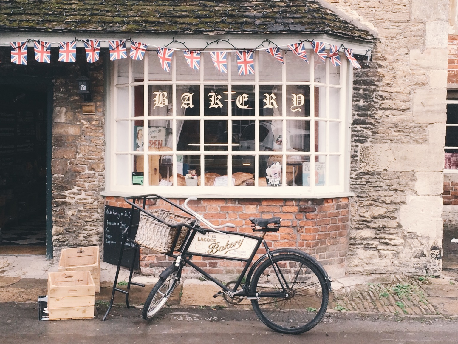 Lacock, England bake shop featured in tv and movies