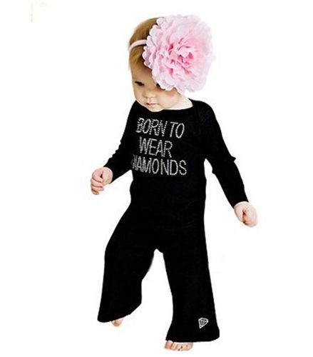 a86ca237c Hunny Bee Kids Born to Wear Diamonds outfit, size small (does not include  headband) & Free Shipping