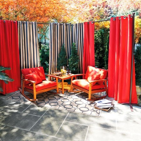 Diy Deck Privacy Ideas Patio Curtains