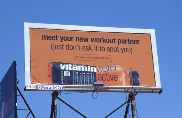 VitaminWater Active workout partner billboard