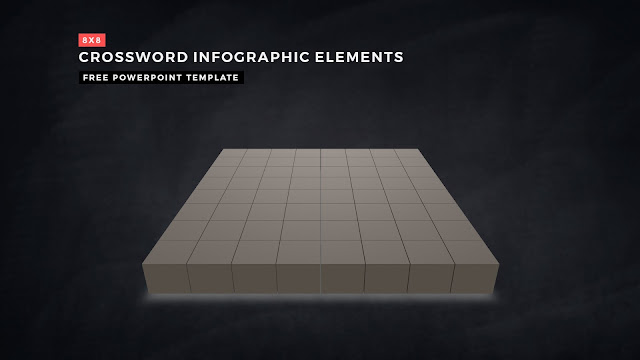 Crossword Puzzles Infographic Elements for PowerPoint Templates with Dark Background Slide 9