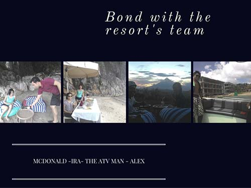 Bond with the resort's team, Misibis Bay, Albay