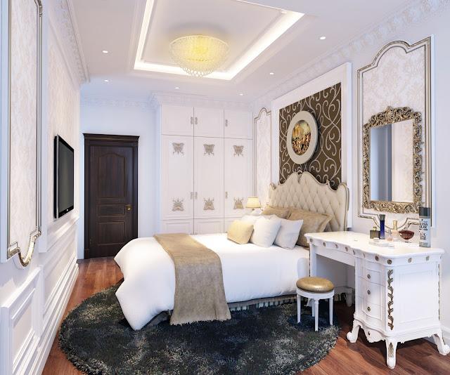 Mẫu thiết kế nội thất phòng ngủ căn hộ The Emerald