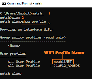 netsh and wlan command in cmd