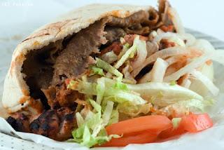 Le kebab est un type plat Turc agneau, mouton