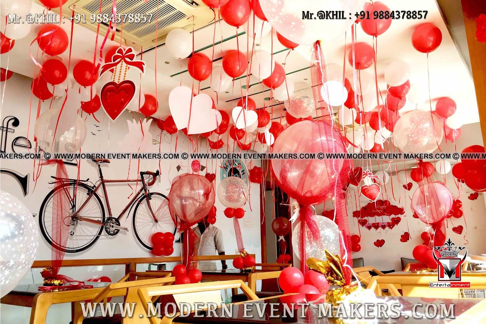 Surprise Party Ideas For Best Friend In Chennai How To Decorate Birthday Room With Balloons Decoration