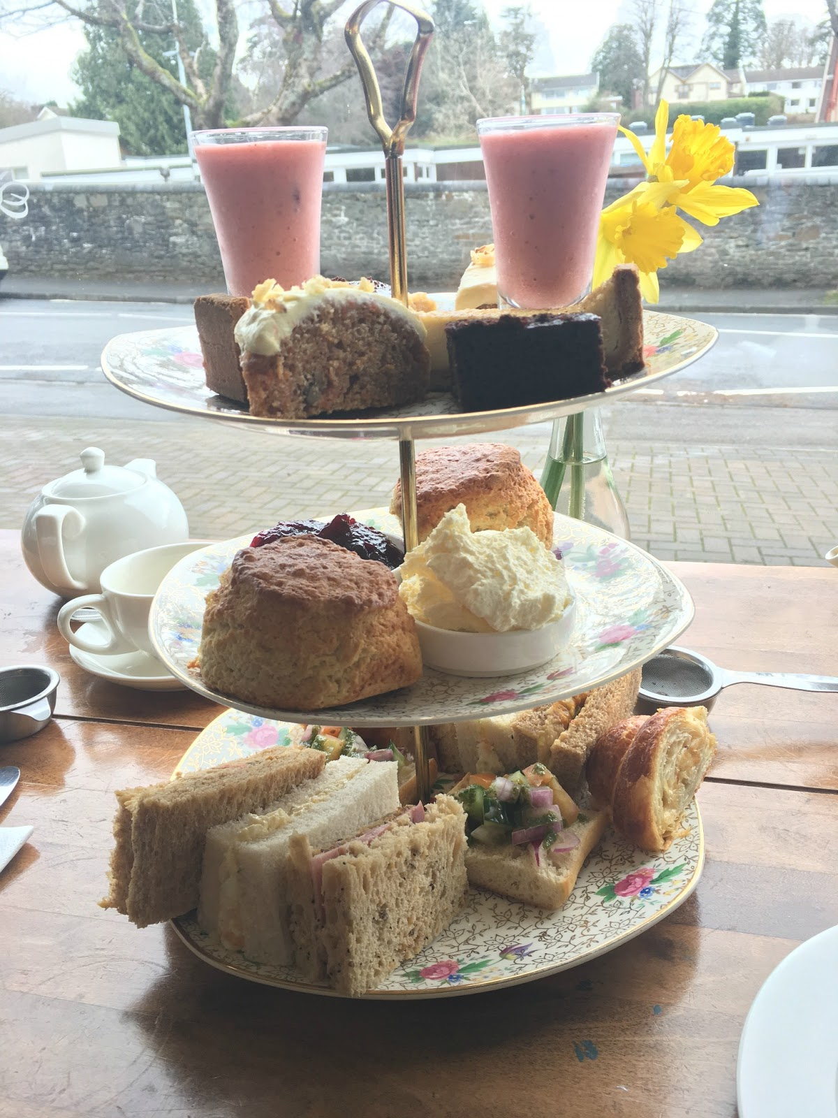 afternoon-tea-complete-with-cakes-scones-sandwiches-at-the-orchard-radyr-cardiff