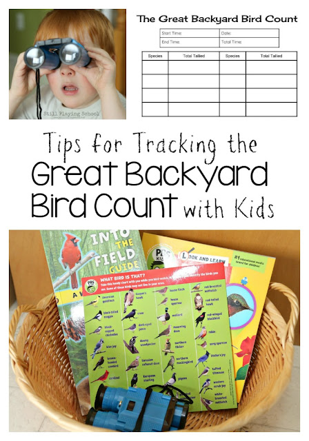 Tips, tricks, and resources for participating in the Great Backyard Bird Count with kids!