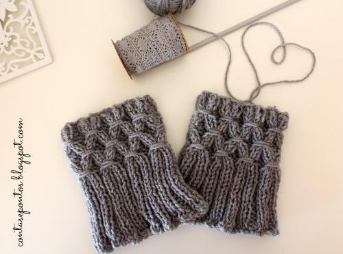Cuff boots - handknitting