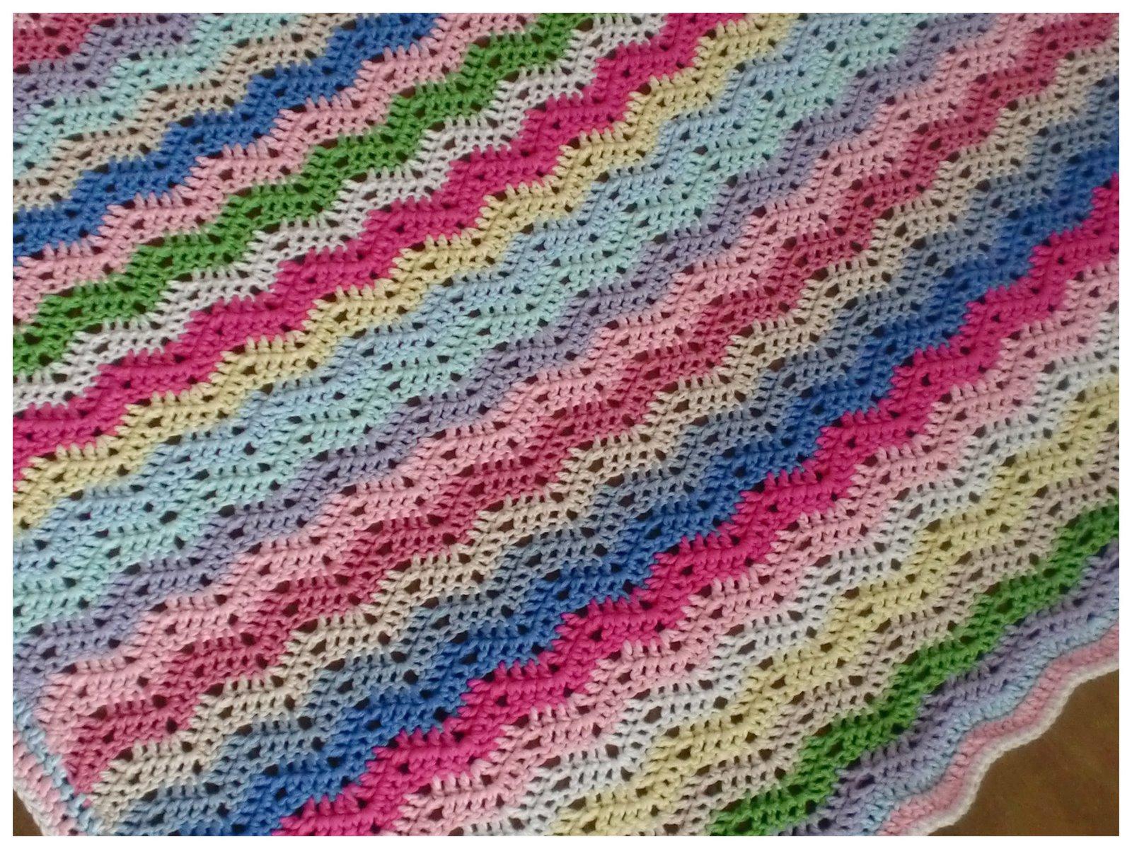 Haken en meer Gehaakte deken  Ajour Ribble