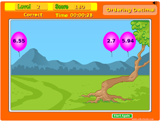 http://www.softschools.com/math/ordering_numbers/ordering_decimals/ordering_decimals.swf