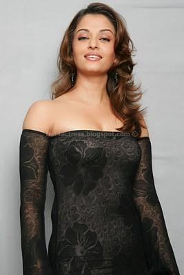 Aishwarya rai hot  photos in black dress
