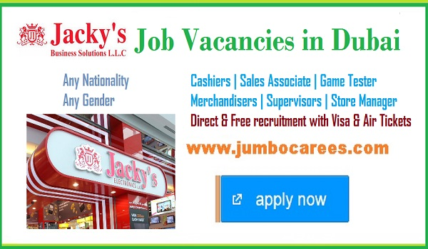 Dubai Direct recruitment jobs with free visa and air ticket, Store staff jobs in Dubai,