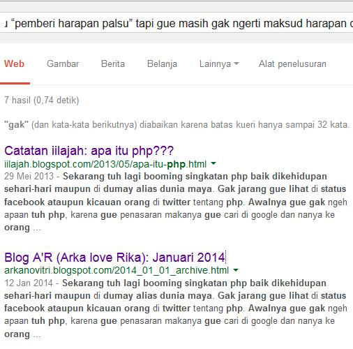 Jangan copy paste blog gue
