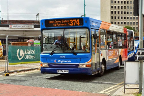374 Bus at Merseyway Shopping Centre Stockport
