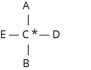 atom karbon (C) tidak simetris