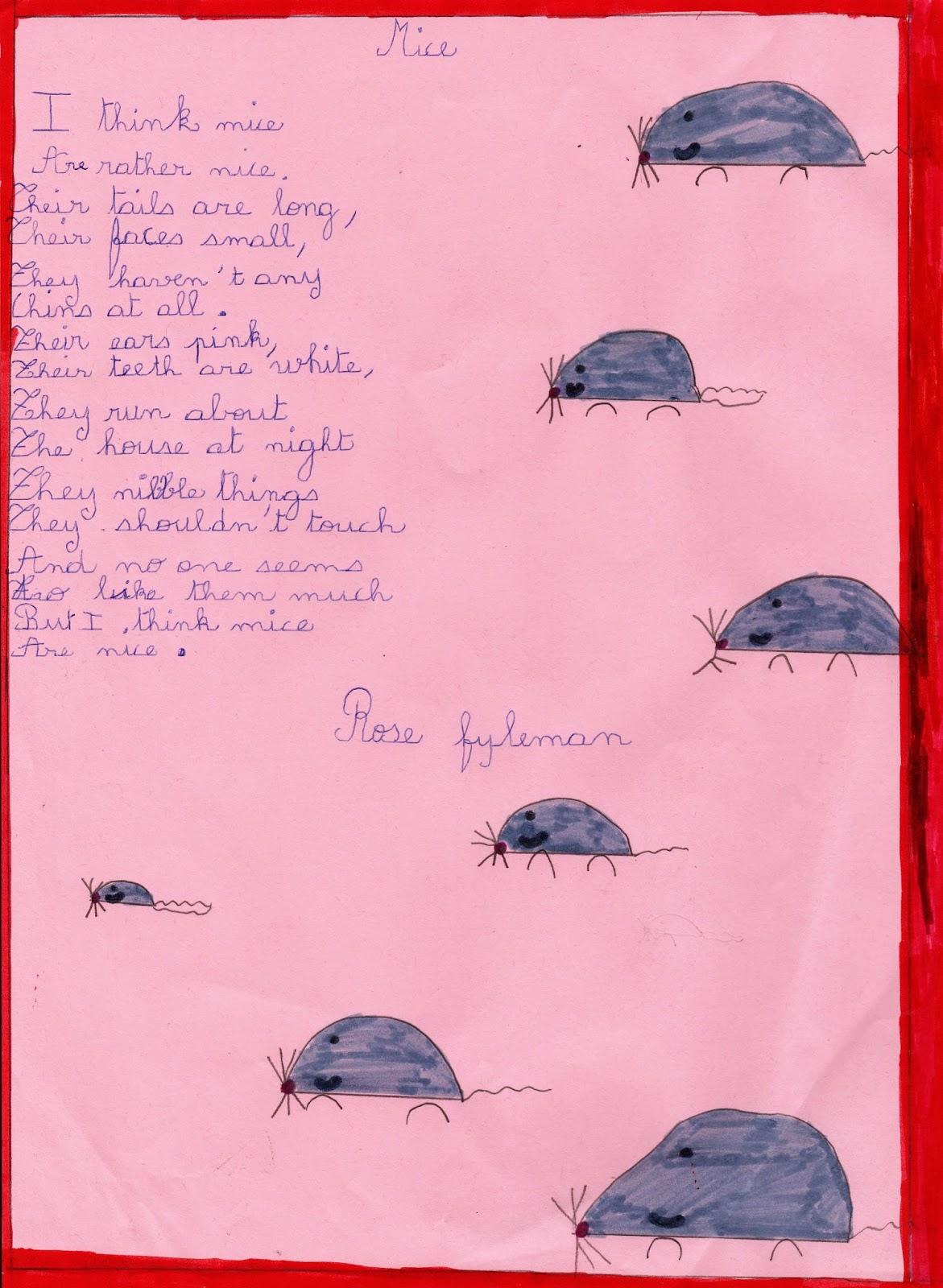 Le Blog De Lécole Saint Joseph English Poem