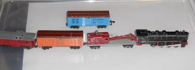 Lone Star 000/N gauge US Steam 'Mixed Goods' starter train set