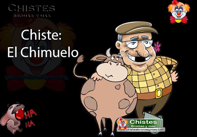 Chiste:  El Chimuelo, un amigo 👨de un rancho vendió una vaca 🐮 para reponer sus dientes ya que le faltaban los tres de enfrente  sin decirle nada a su mujer 👧 fue con el dentista 😷